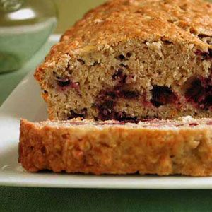 Banana Blueberry Bread ~T~ I used oats, added more blueberries and some chopped walnuts. A Cooking Light recipe