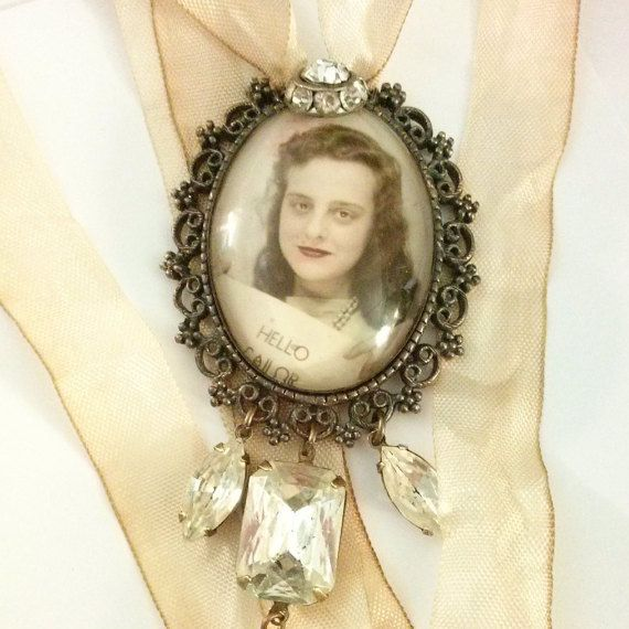CUSTOM photo booth photograph assemblage necklace. by SacredCake