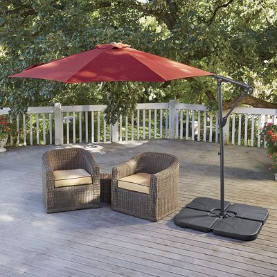 shade made simple with the easyup offset umbrella without the need for a patio