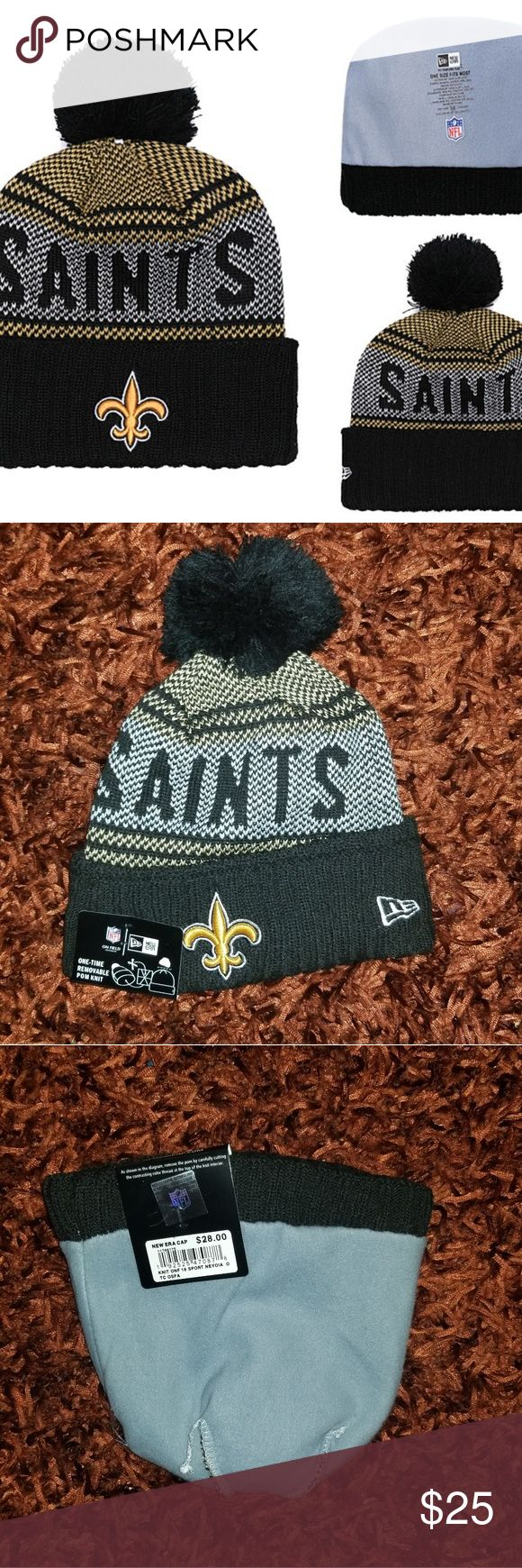 New Era Saints Cuffed Knit Hat Brand new  Never used  Same bussiness day shipping Perfect gift for your friend, boyfriend or husband Check my profile …