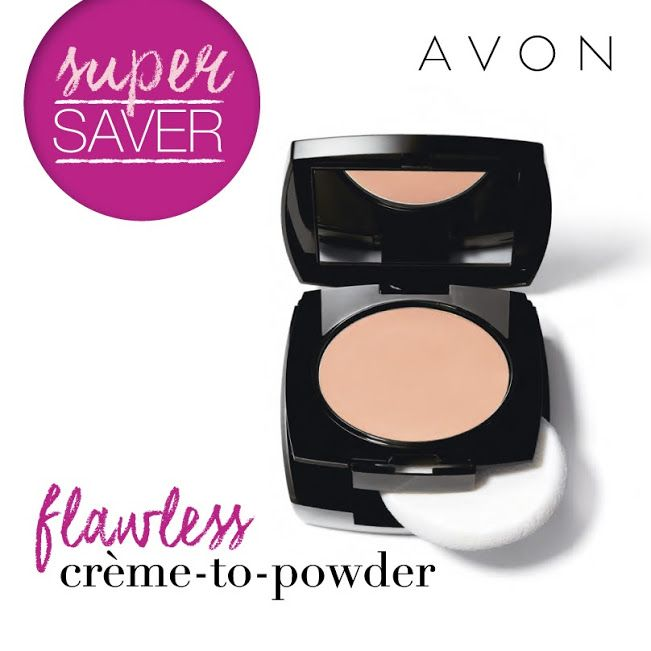Buy the Ideal Flawless Creme to Powder Foundation for $10.99 when you spend $15 in B1/2017. >10 shades from deep to light >Medium to full coverage > Valued at $27.99 #avon #supersaver #foundation #makeup