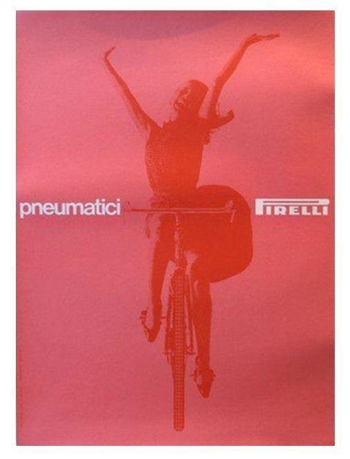 1963 Original Italian Pirelli Tires Poster on Chairish.com