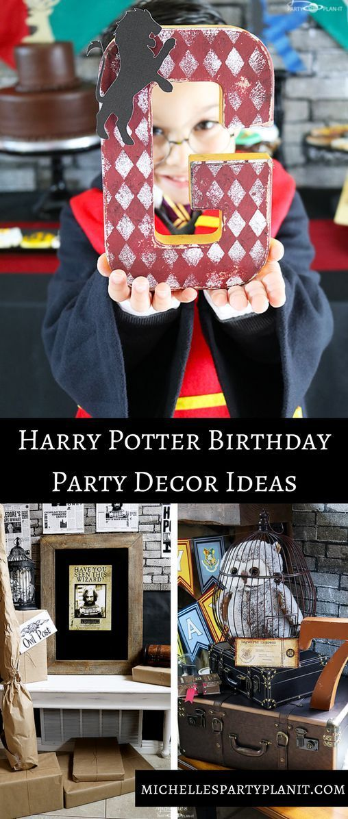 Harry potter inspired Decor ideas for your next Harry Potter party!