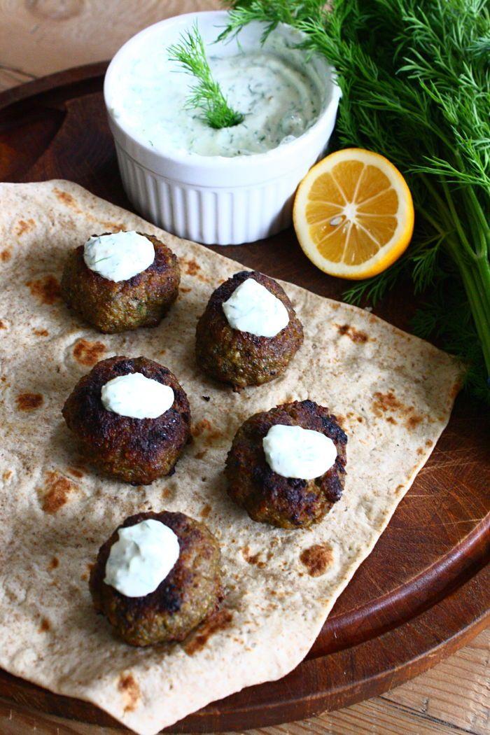 Cinnamon-Spiced Lamb Meatballs with Tzatziki