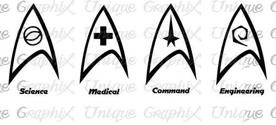 Star Trek Insignia symbols Vinyl Decal sticker by UniqueGraphix, $5.00