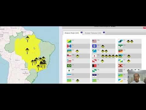 ALERTA DE TEMPESTADES EM GRANDE PARTE DO BRASIL 16 E 17