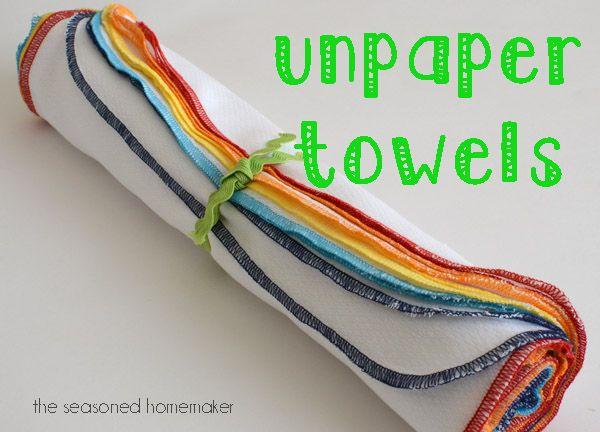 UnPaper towels, reusable paper towels, paperless towels