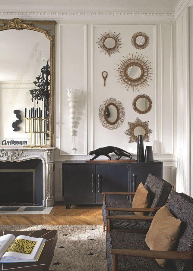 Paris 6. Wohnung: ein Haussmannian in Saint-Germain-des-Prés #EklektischeEinrichtung