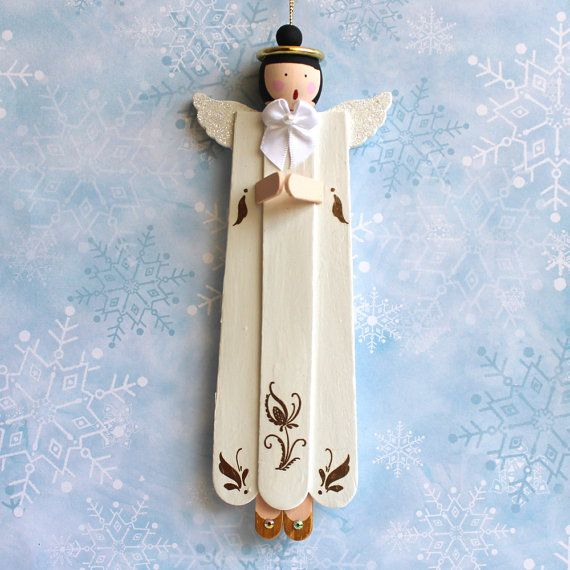 Singing Praying Angel Christmas Ornament Made From