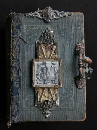 Altered book covers. Look at that handle!