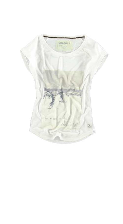 T-shirt Garcia E30014 MELIS WOMEN 50 White