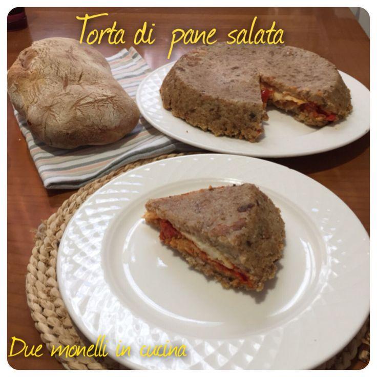 La torta di pane salata è un piatto ottimo per riciclare del pane avanzato, piatto povero e versatile, richiede pochissimi ingredienti,