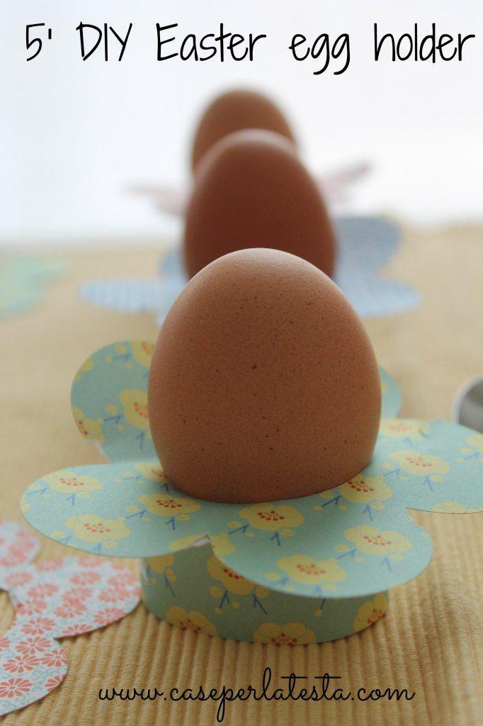 Porta uovo in carta in 5′ * DIY 5′ paper egg holder