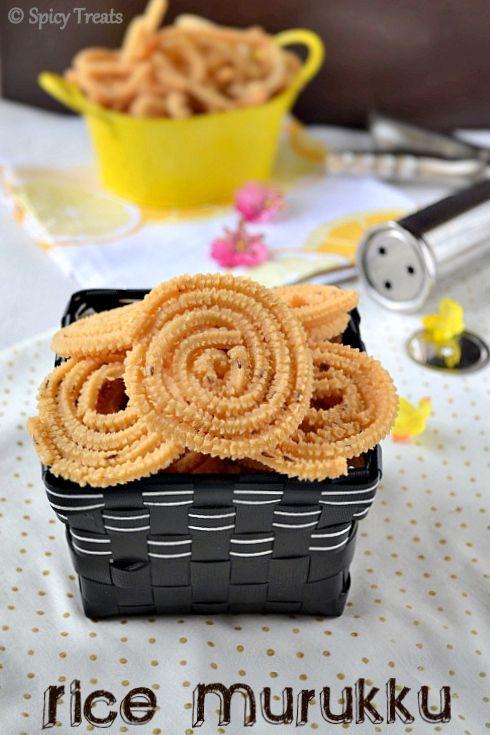 Spicy Treats: Rice Murukku / Mullu Murukku ~ Easy Diwali Snack!!