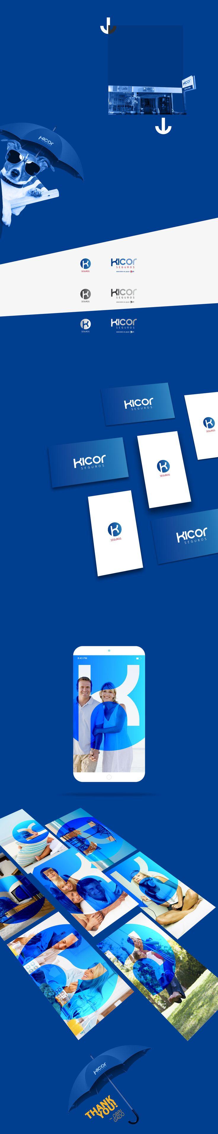 Visual Identity development for Insurance Company Kicor Vinhedo São Paulo - Brasil.