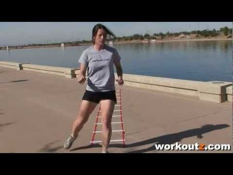 Slalom Agility Ladder Drill (Version 1)