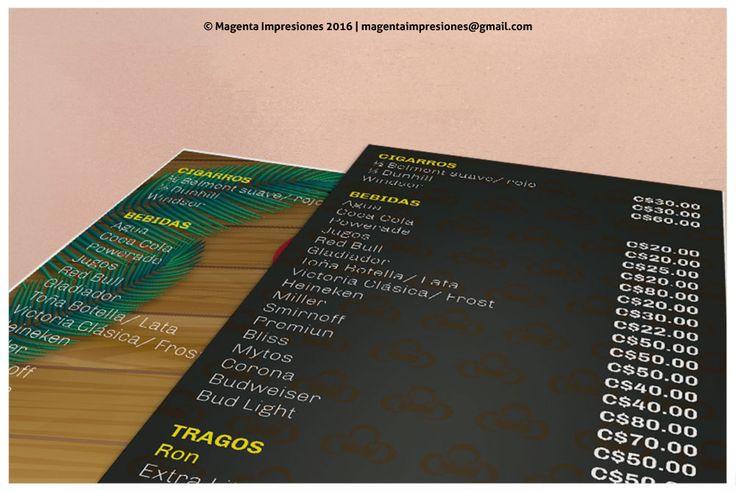 #Diagramacion #ImpresionDigital Impresión digital de 4 menús desarrollado por la marca Símbolo, Estudio Creativo.