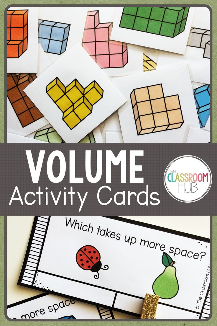 Learning about volume is easier with hands on activities. These volume block cards are a fun way to build objects and discuss the concept. Other activities are included. Check it out by clicking on the photo.