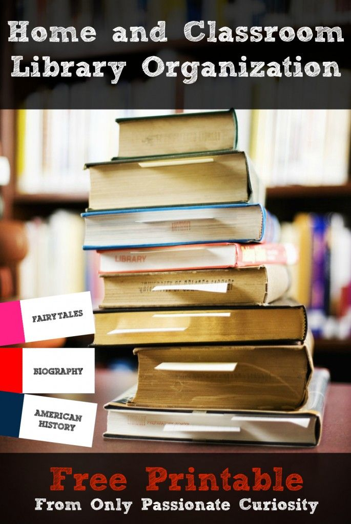 Updated Home Library Book Labels- For Elementary and High School -