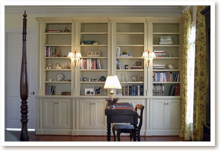 Example of a built in bookcase built in bookcase for Custom bookcase plans