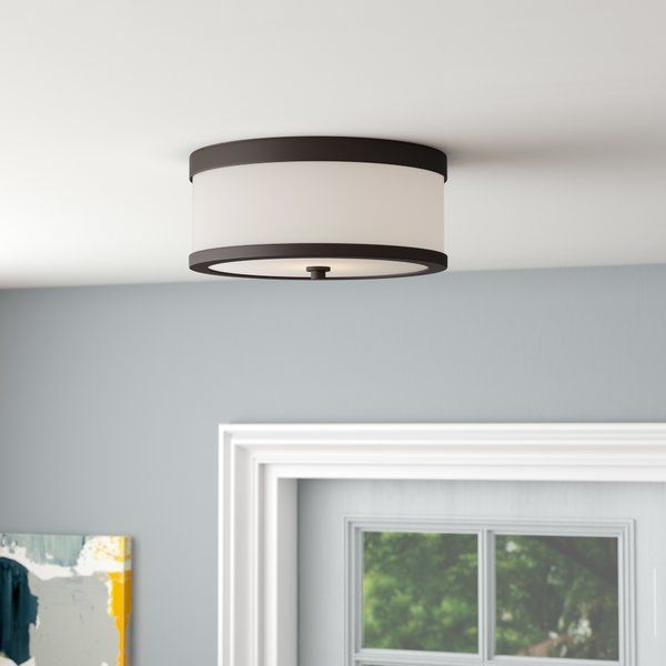 Curtin 2 Light 13 63 Simple Drum Flush Mount Bedroom Lighting