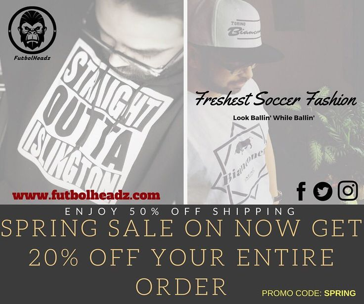 Get that spring sale! 20% off storewide! 50% off shipping or free shipping with 2 or more items!! #Soccer #football #futbol #futbolheadz #arsenal #manchesterunited #manchestercity #juventus #bayernmunich #borussiadortmund #tfc #tshirt #tshirts #snapback #snapbacks #beanies #winterhats #shopify