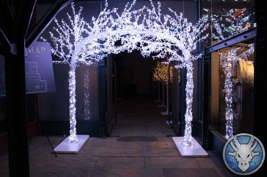 LED Crystal Archway, Narnia Theme Party Hire | Prom Ideas 2015 ...outaide gym doors
