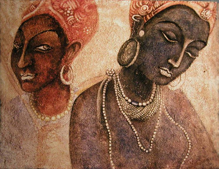 Ajanta cave art book covers places i want to visit for Ajanta mural painting