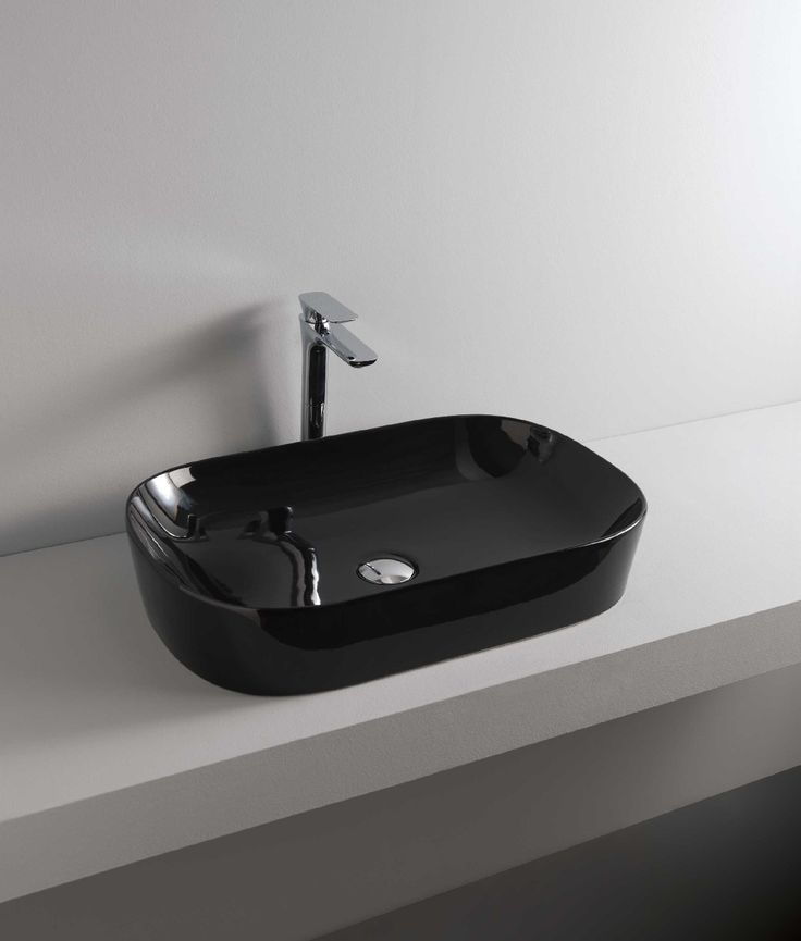 GHOST countertop washbasin #TheArtceram #black #bathroom #colors #countertopwashbasins