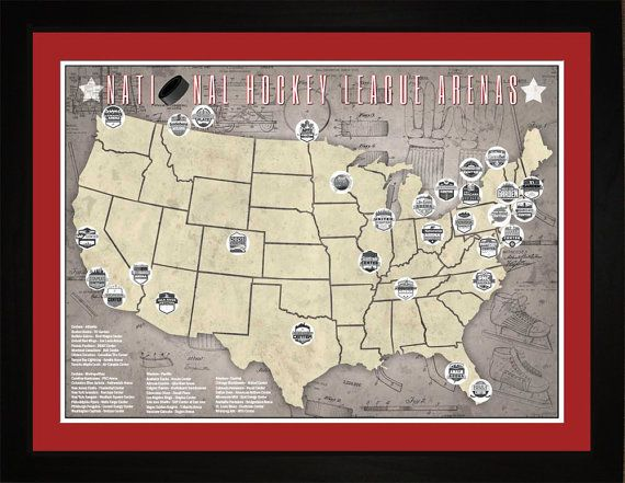 NHL National Hockey League Arenas Pro Teams by ConceptProducts