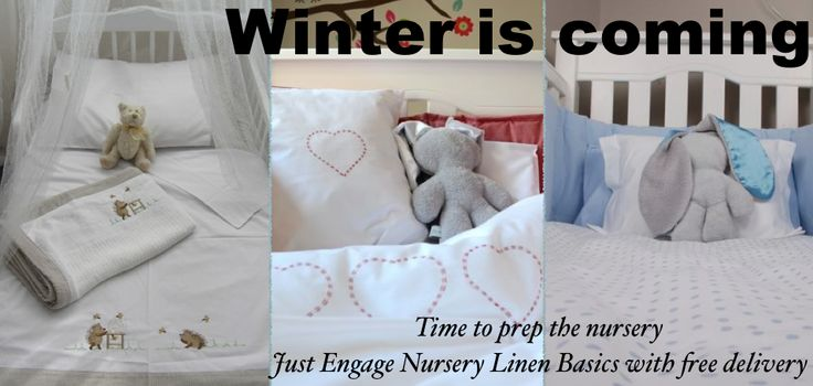 Get nursery and cot linen in preparation for winter http://just-engage.com/product/cot-bumpers-by-tom-bella/
