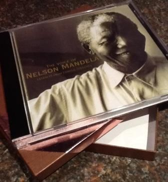 "Nelson Mandela CD ""The voice of Nelson Mandela Extract from famous speeches - original recordings"" - from the SABC Radio Archives http://sabcmedialib.blogspot.com/2013/07/nelson-mandelas-voice-priceless.html"