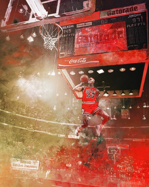 Michael Jordan 1988 Slam Dunk
