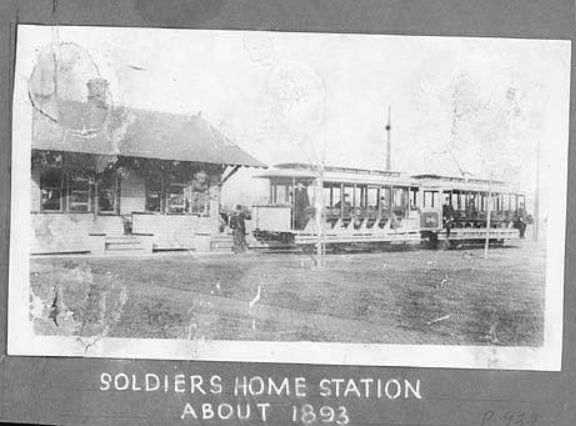 Streetcars ran to the Soldiers Home in Marion, Indiana on 38th St. about 1893. Now known as the VA Hospital.