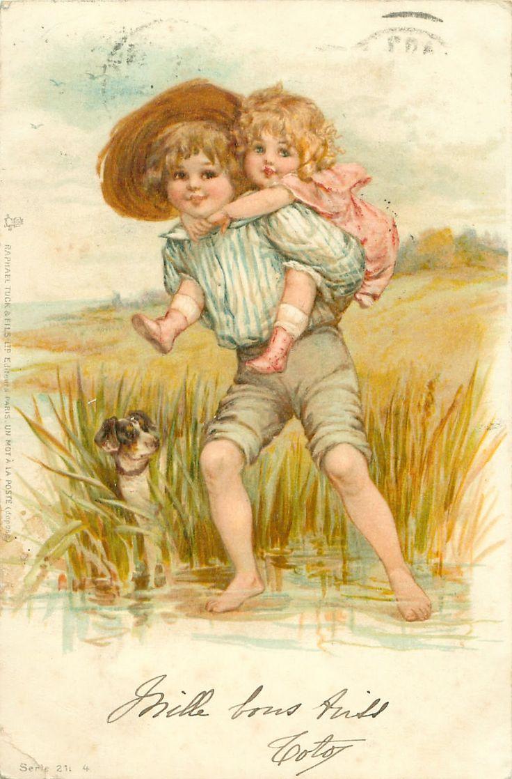 Винтажные открытки с детьми старинные