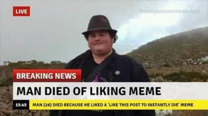 Man Died of Liking Meme #memes