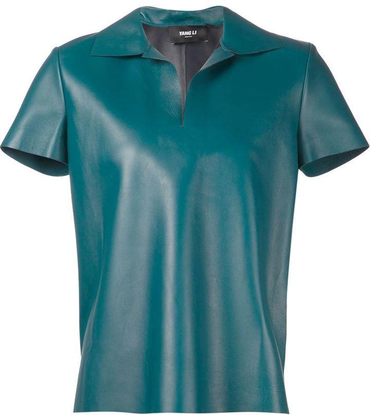 Yang Li boxy polo shirt