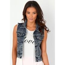 sleeveless denim jacket - like the length