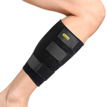 7906407bc76cde Yosoo Calf Brace Adjustable Neoprene Leg Compression Sleeve Shin Splints  Wrap Support for Pulled Calf Muscle Pain Strain Injury, Fits Men and Women,  Black