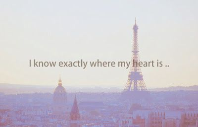 I Know exactly where my heart is...