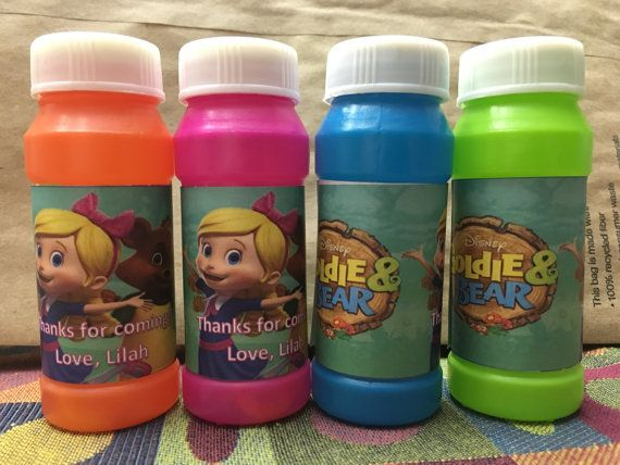 Goldie & Bear Personalized Bubbles Favor by GiGizKiddieCreationz