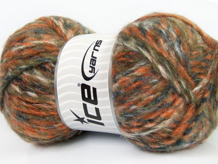 Composition 43% Acrylique 27% Polyamide 15% Mohair 15% Laine White Orange Navy Khaki Brand ICE fnt2-41162