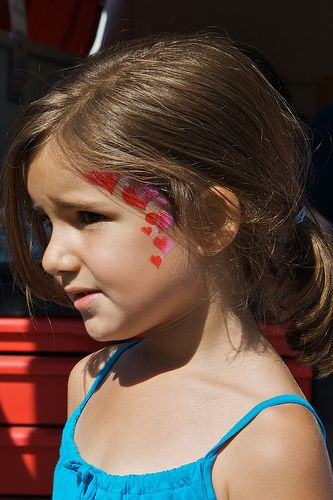 Heart Face Painting 6