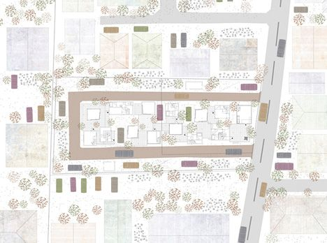 photo(C)Ookura Hideki / Kurome Photo Studio Eureka/稲垣淳哉+佐野哲史+永井拓生+堀英祐が設計した愛知県岡崎市の集合住宅「Dragon Court Village」です。 以下、建築家によるテキストです。 ********** 地域・環境へと開かれた低密度な住宅群 9戸の賃貸長屋の計画。敷地はひとりが一台の車を所有する車社会の郊外住宅地である。各世帯が2台の駐車スペースをもち、敷地半分を車路と駐車場が占める。そして自然と導かれる法定容積を下回る低密度な計画条件のもとに、隣家と余白を共有し、地域・環境へと開かれた住宅群を目指した。 路地状空地が取り巻くポーラスな環境 風が通り抜け日陰を生み、室単位では無く群として快適な空間の秩序へと至るポーラスな建築である。サーキット状の路地と駐車スペースによって建築は周囲に余白をもち、風環境のシミュレーションによってボリュームが調整されることで半屋外空間が建築内を貫通する。この半屋外空間と来客を招き入れるアネックスを介して、生活が屋外・他者へと...