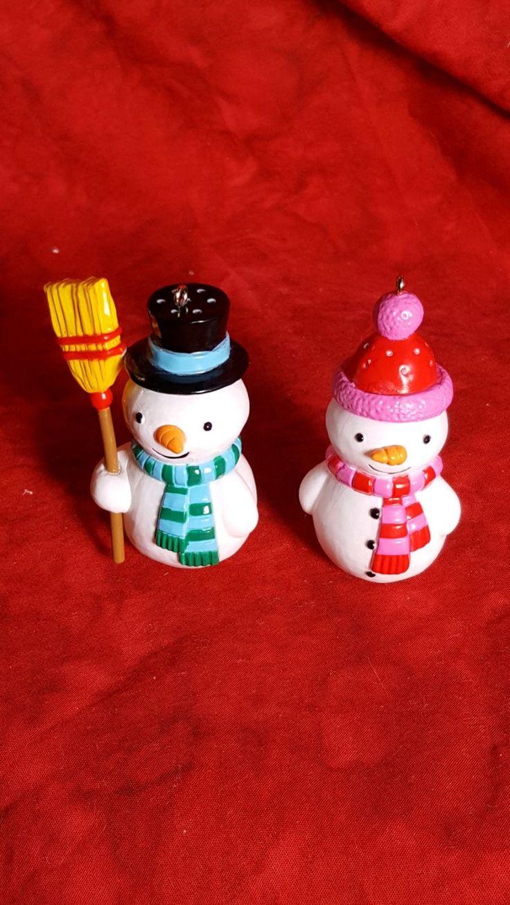 hallmark ornaments Snowmen Salt and pep in 2020 Hallmark