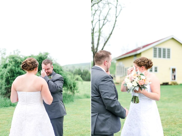 groom crying when he sees bride first time