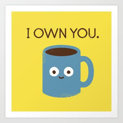 Coffee Talk Art Print by David Olenick - $16.99