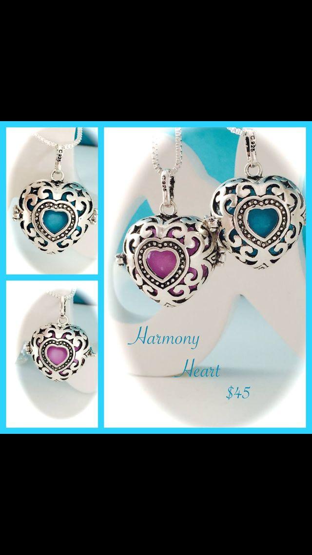 www.upliftingchangejewellery.com.au Harmony Ball Heart $45, Blue or Pink Ball