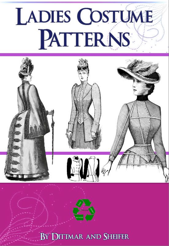 Victorian LADIES COSTUME PATTERNS Design Your Own di HowToBooks
