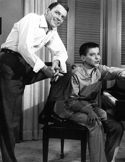 Frank Sinatra and Frank Sinatra Jr.